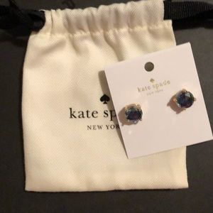 Kate spade blue stud earrings
